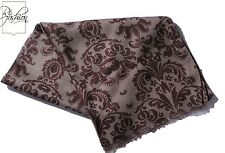 NEW! BATTISTI NAPOLI PAISLEY DESIGN MAROON AND GRAY SCARF MODAL/CASHMERE SCA01
