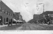 Commercial Street railroad Springfield Missouri 1906 Postcard Fergunson 6021