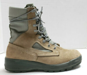 Belleville Boots Womens 9 WF Sage Green Tan Gore-Tex Combat Certified Fly FAFTW