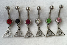 6pcs Handmade Harry Potter belly button jewelry Dangle navel ring Body jewelry !