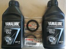 SET OIL FORK YAMALUBE 10W+2 OIL SEALS ORIGINAL YAMAHA YZ125LC 1994 - 1995