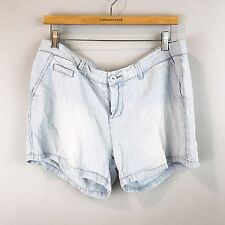 CELEBRITY PINK JEANS Chambray Mini Shorts SZ 13 Light & Loose Beach