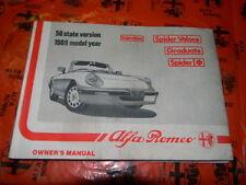 Alfa Romeo Spider 1989 Owner Manual