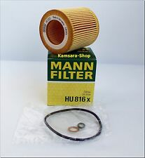 Oil Filter MANN HU 816X BMW 1/ 3/5/ 6/7, x 1/3/5/6 , Z 4,3/523i, 3/525xi,