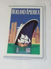 HOLLAND AMERICAN vintage Souvenir Photo Card Holder 452-2