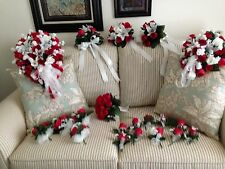 Silk Wedding 20 Pc.pkg. Red & White or Your Colors