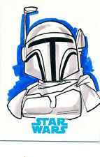 """Star Wars Journey to the Force Awakens Sketch Card Michael """"Locoduck"""" Duron"""