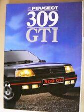 Brochure PEUGEOT 309 GTI 1988