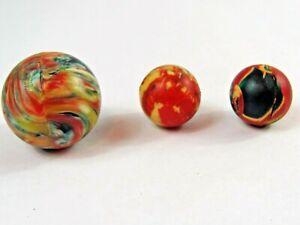 Vintage Rubber Super Balls Bouncy Ball Lot Swirl Antique