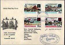 More details for ascension 1975 160 anniv of occupation fdc signed + addressed to stamp designer