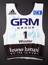 Signed BIB Russia Team Luge World Championships Whistler 2013 Demchenko Ivanova