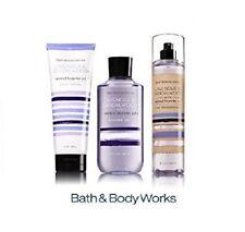 Bath and Body Works LAVENDER & SANDALWOOD Shower Gel Body Lotion Cream Mist x 3