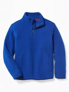 NEW OLD NAVY SHERPA MOCK NECK BOYS SWEATER PULLOVER XL BLUE COBALT EXTRA LARGE