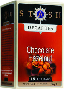 Chocolate Hazelnut Tea Decaf by Stash, 18 tea bag