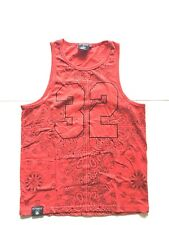 Men's Victorious Tank Top Red Bandana Print Size M Medium