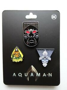 Aquaman Movie Logo DC Comics Lapel 3 Pin Set