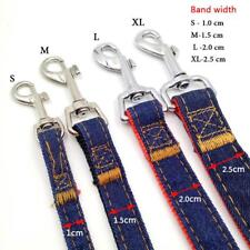 Retractable Pets Collar Denim Lead Dog Basic Leashes Band Durable Jean Puppy Cat
