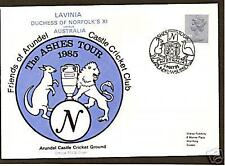 GB CRICKET ASHES TOUR 1985 TCCB OFFICIAL COVER ARUNDEL
