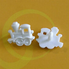 20 Train Kid Boy Sewing Buttons Dress it up White K362