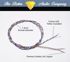 "Cardas cable 4x 33awg tonearm wire 400mm (9"" tonearms) SME LINN ROKSAN JELCO"