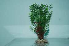 Plantas De Acuario Piedra Base 10cm base y 30 Cms De Alto De Color Verde Y Roja
