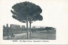 Vecchio AK Rom Roma ben prima 1945, via Appia Nuova, acquedotti di Claudio (1)