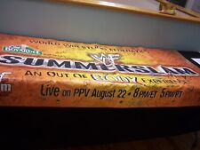 WWF Summer Slam Banner signed by 100 Superstars and Hall of Famers  wwf wcw ecw