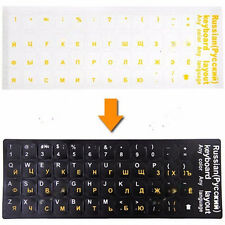Durable Russian Keyboard Sticker Layout Transparent Waterproof Replacement