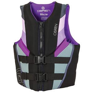 O'Brien 2201826 Watersports Women's Focus Life Jacket Vest, Purple, Size Large
