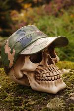 Puckator Crâne de Décoration Casquette militaire Polyrésine ...