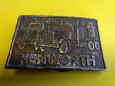 "Kenworth Kw Semi Tractor Trailer Truck Cab Belt Buckle 3 1/4"" x 2 1/4"""