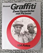 1960 BRASSAI: GRAFFITI Conversations with PICASSO w/ 105 PHOTOGRAPHS German Text