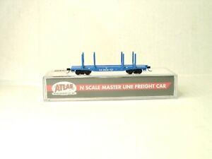 ATLAS MASTER LINE N SCALE 45' LOGGING FLAT CAR GREAT NORTHERN 50004949