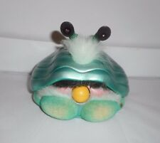 2001 FURBY SHELBY GREEN AQUA MARINE INTERACTIVE CLAM TIGER ELECTRONICS TOY WORKS