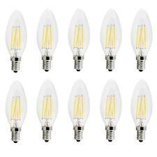X10 LAMPADINA OLIVA 4W LED FILAMENTO E14 FIAMMA LAMPADA LUCE FREDDA