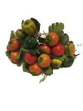 5 Stems Shiny Apple Pepper Floral Picks Wreaths Crafts Holiday Berries Plastic