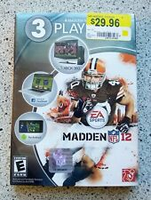 Madden NFL 12 2012 3 Playpack Complete NEW AND SEALED Xbox 360 Android Facebook