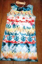 NEW&TAGS bodycon dress SIZE S 8 10 stretch tunic festival party retro boho top