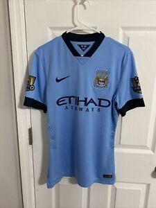 2014 Manchester City Match un worn Aguero jersey player issue shirt Argentina