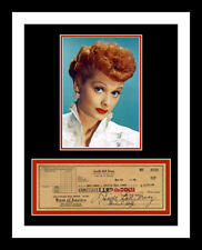 LUCILLE BALL *SIGNED BANK CHECK* PHOTO PRINT DISPLAY *I LOVE LUCY*