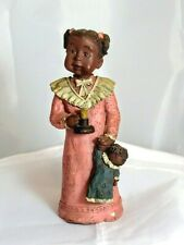 Sarah's Attic Black African American Girl Libby Retired 244/4000 Resin Figurine