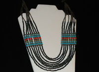 Lucky Brand Wide Multi Strand Beaded Layer Necklace