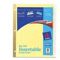 "Avery Worksaver Big Tab Insertable Divider - Blank - 8.50"" X 11"" - 8 / Set -"