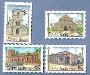 SAINT LUCIA 867-70 MNH CHURCH'S OF ST LUCIA