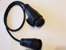 Adapter Verlängerungskabel 13 / 7 polig Stecker Kupplung Kabel Anhänger 80 cm