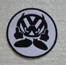 jaune et noir broder et thermocollant patch VW 9cm