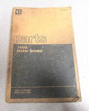 Caterpillar Cat 140G Motor Grader Parts Catalog Manual 1980 72V1 81V1
