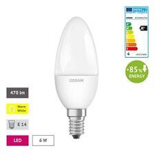 OSRAM LED Kerze E14 A+ 6w = 40W 2700K warmweiß Matt R3.50 Lampe Kerzenlampe
