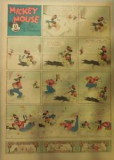 Mickey Mouse Sunday Page by Walt Disney from 12/12/1937 Tabloid Page Size