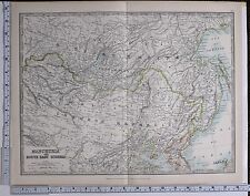 1915 LARGE MAP MANCHURIA & SOUTH EAST SIBERIA CHINESE REPUBLIC RUSSIAN EMPIRE